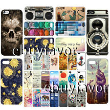 For Apple iPhone 4 5 6 6 plus colorful PC Pattern hard Dirt Dust Proof Case