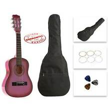 """Child's Size 27"""" Wooden Acoustic Guitar With Bag Set of string 3 Pick. CG621-BSP"""