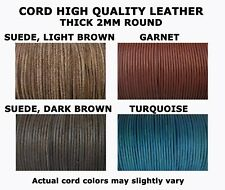 2mm Genuine Leather Round Cord Spool - 100 meters = 109.3 yards = 328 feet