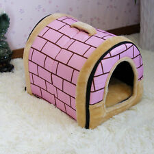 Pet-House-2-Way Use Dog Bed Puppy Cat Kennel Cushion Mat Washable Good Quality