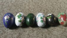 (6) Decorative brass eggs - home decor - brass egg