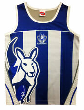 North Melbourne Kangaroos AFL Footy Training Singlet Tank Top - Boys Mens