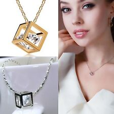 Newest Fad 925 sterling silver fashion love magic cube necklace pendant chain