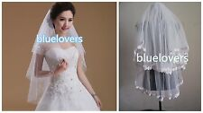 New 2T LACE and  bead Elbow Wedding Veil Bridal Veil With Comb
