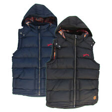 Mens Tokyo Laundry padded quilted hooded gilet bodywarmer