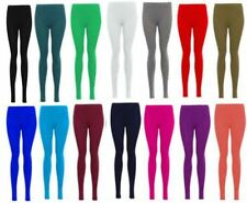 New Womens Ladies Plain Printed Skinny Full Length Leggings Stretch Trouser Pant