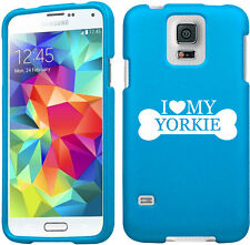 For Samsung S3 S4 S5 Active Rubber Hard 2 Piece Case Cover I Love My Yorkie