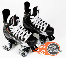 Bauer Quad Roller Skates, Vapor X Elite, Playmaker Conversion, Airwave Wheels