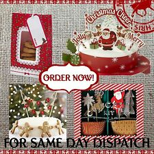 CHRISTMAS CAKE NOVELTY BAKING ACCESSORIES Red White / Party Cake Decorating