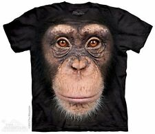 Chimp Face T-Shirt from The Mountain - Sizes Adult S-5X & Child's S-XL
