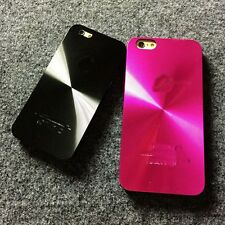 New CD Pattern Brushed Aluminium Alloy Metal + PC Case Cover for Apple iPhone