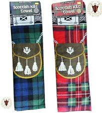 Traditional Scottish Kilt Towel Royal Stewart Black Watch Tartan Beach Spa Sauna
