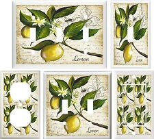 AWESOME LEMONS TUSCAN KITCHEN DECOR LIGHT SWITCH OR OUTLET COVER V752