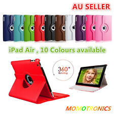 360° Rotate Smart Auto Sleep/Wake PU Leather Stand Cover Case for Apple iPad Air