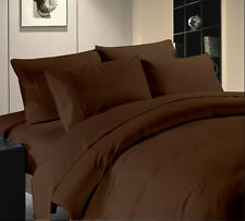 Hotel Collection 800TC Brand New Brown Solid 3pc Duvet Set 100%Egyptian Cotton