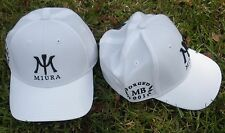 1 New White Miura Golf Hat Cap MB 001 Forged by Imperial S/M or L/XL Poly Fabric