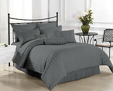 Hotel Collection 800TC Brand New Grey Striped 4pc Sheet Set 100% Egyptian Cotton