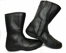 LV11 Motorcycle BlackLeather Water Resistant Motorbike Winter Race Boots