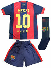 Barcelona #10 MESSI Home Kids Jersey and Shorts Youth Sizes - USA Seller