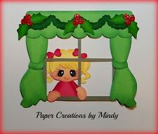 Craftecafe Christmas Santa girl premade paper piecing for scrapbook page album