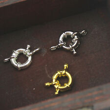 2pcs Silver/Gold Plated Spring Ring Clasps - DIY Jewelry Necklace / Bracelet
