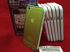TRANSPARENT CLEAR GREEN SILICONE GEL HYBRID CASE FOR APPLE IPHONE 6S IPHONE 6