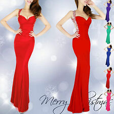 XMAS DISCOUNT Long Bridesmaid SLIM FIT Evening Prom Dress Formal Party Ball Gown