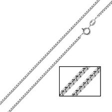Sterling silver Italian Box chain Necklace 925 1mm 14 16 18 20 22 24 30 inch S04
