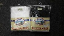 Widerness Men's Waffle Knit Cotton Thermal Set Top & Bottom M-XXL Black, White