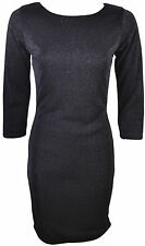 NEW WOMENS LUREX SPARKLE LADIES BODYCON PARTY MINI DRESS WITH LINING 8-14