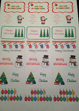 Christams Santa, trees , snowman, stockings 21 stickers sweet cones / boxes /