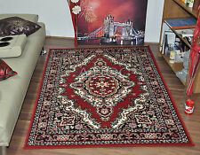 Red Traditional Medallion Classic Area Rugs Cheap Small Extra Large Carpet Mat