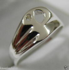 KAEDESIGNS, GENUINE, SOLID YELLOW OR ROSE OR WHITE GOLD 375 LARGE INITIAL RING P
