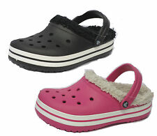 "CROCS CHILDREN'S GIRLS & BOYS  ""CROCBAND MAMMOTH"" CLOGS IN BLACK & HOT PINK"