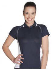 Ladies Cover Polo 7COV | 100% Polyester, Casual, Contrast, Sports, Team, 8 - 24