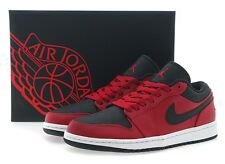 Nike AIR JORDAN 1 LOW 553558-602 Red Sz8-12 Basketball Shoes Fast Shipping