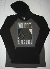 ~~NEW~~ MENS VOLCOM LONG SLEEVE T-SHIRT HOODIE BLACK