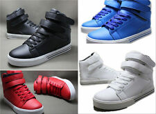 New Style Korean Style The High-top Casual Shoes Magic Buckle Walking Sneakers