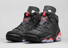 BRAND NEW AIR JORDAN RETRO VI 6 BLACK INFRA RED GS SZ 4 ~ 7Y. FREE SHIPPING