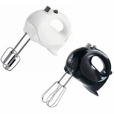 Electric HAND MIXER by Sabichi White / Black Blender Food Whisk Beater 5 Speed