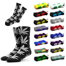 Unisex Plantlife Marijuana Cannabis Weed Leaf High Socks With Leaves