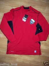 New with tag Nike Men's Pro Combat red Shield fitted hyperwarm Shirt 479936-652
