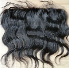 """5A Brazilian Human Hair Free Style 13""""X4"""" Lace Frontal Closure Body Wave Weave"""