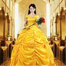 Adult Princess Belle Costume Beauty and The Beast Halloween Fancy Dress