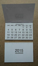 2015 Calendar Tabs Pad Insert White Mini Tear Off Pads Month To View cover craft