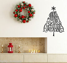 Merry Christmas Snowflake Tree Window Wall Stickers decorations Xmas. Large