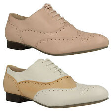 ENNIS WILLOW LADIES CLARKS LEATHER BROGUE FLAT LACE UP CASUAL DRESS SHOES