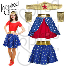 Sexy Wonder Woman Style Fancy Dress Superhero Skirt Costume XS S M L XL UK MADE