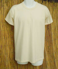 Organic Cotton Short Sleeve Tee Shirts Made in USA Natural color