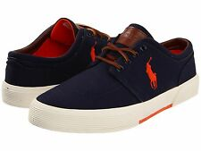 NWB Polo by Ralph Lauren Men's Faxon Low Casual Sneakers Fashion Lace-Up Navy